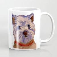 westie Mugs featuring West highland terrier Westie dog love by Gooberella