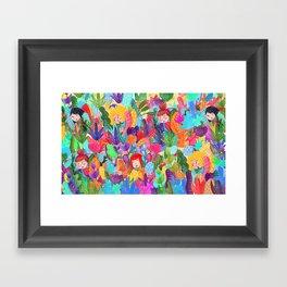 Hidding Framed Art Print
