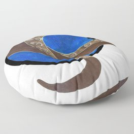 Creature of Water (porthole edit) Floor Pillow