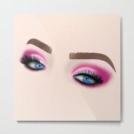 Barbie Make-Up Eyeshadow Metal Print