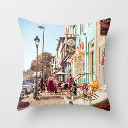 Street in Baltimore Throw Pillow