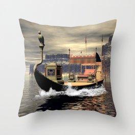 Sacred barge Throw Pillow