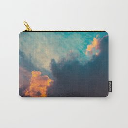 Clouds illuminated and rising sun Carry-All Pouch