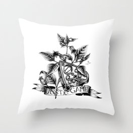 Deadly Nightshade Throw Pillow