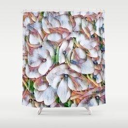 Hydrangea Macro Rainbow Shower Curtain