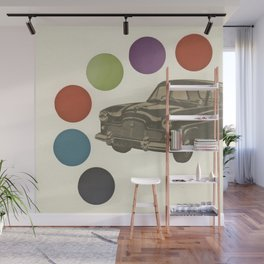 Driving Around in Circles Wall Mural
