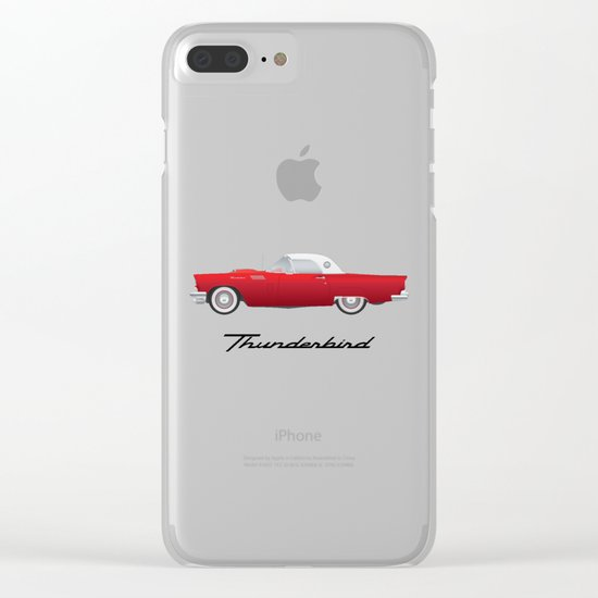 1957 Thunderbird Clear iPhone Case