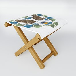 Coffee and Cats Folding Stool