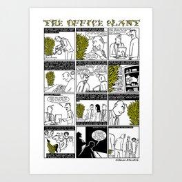 The Office Plant Art Print