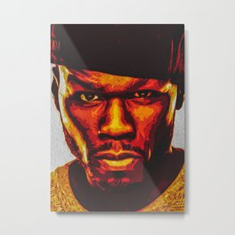 50 Cent Hiphop Rapper Metal Print