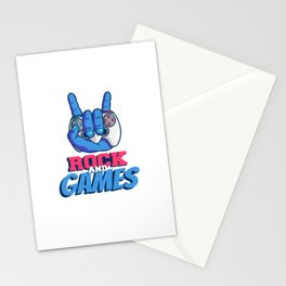 Rock And Games Stationery Cards