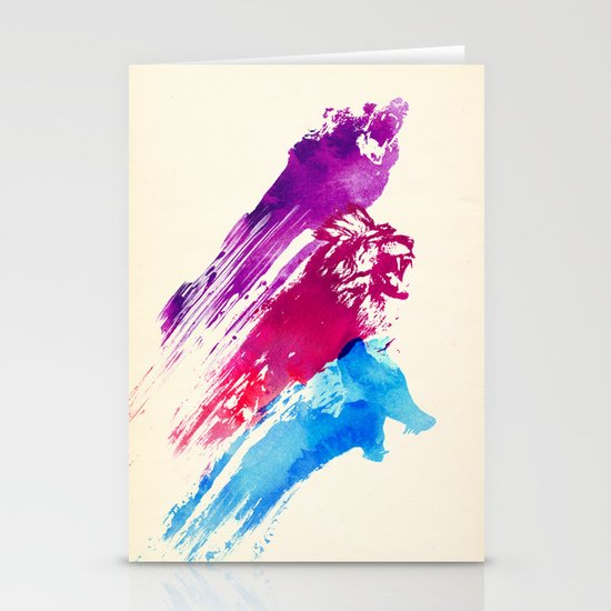 Wild colours Stationery Cards