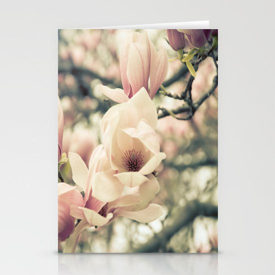 Magnolia Tree Bloom.  Flower Photography Stationery Cards