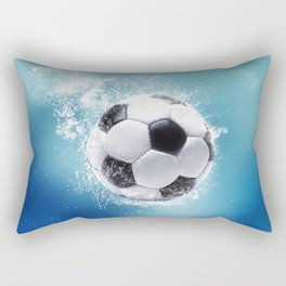 Soccer Water Splash Rectangular Pillow