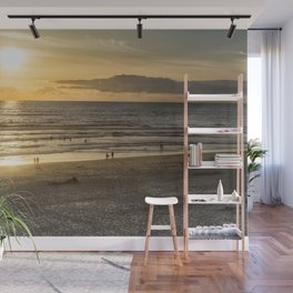 Waiting for the Sun to Set Wall Mural