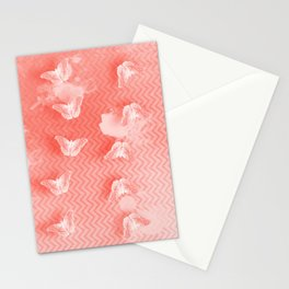 Ordered butterflies in rows Stationery Cards
