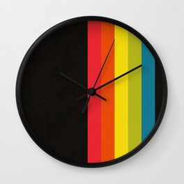 Retro Camera Color Palette Wall Clock