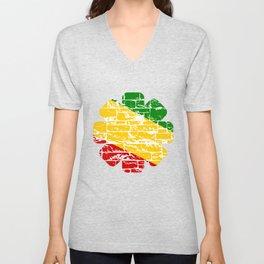 Rastafari Flag Unisex V-Neck