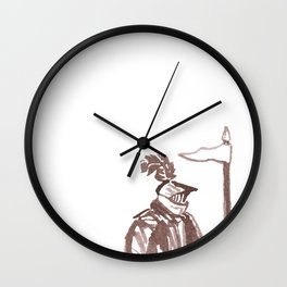 The Brown Knight Wall Clock