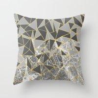 Ab Marb Grey Returned Throw Pillow