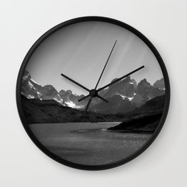 Patagonia Black and White Wall Clock