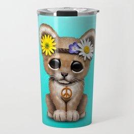 Cute Baby Lion Cub Hippie Travel Mug