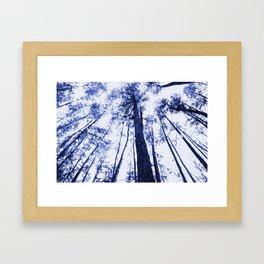 Fading into blue Framed Art Print