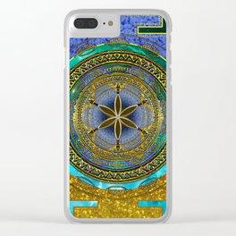 Yantra Mantra Mandala #1 Clear iPhone Case