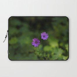 Purple Flowers Laptop Sleeve