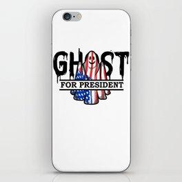 Ghost Elected Cute Halloween Spirit in American Flag Light iPhone Skin