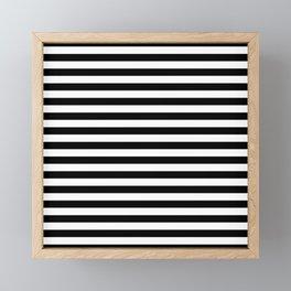Abstract Black and White Stripe Lines 15 Framed Mini Art Print
