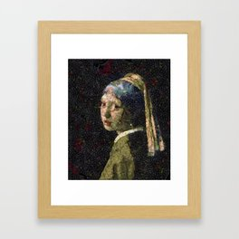 Girl With A Strawberry Earring Vegetable Decoupage Framed Art Print
