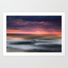 The Tide Rises ~ The Tide Falls ~ Sunset Clouds Art Print