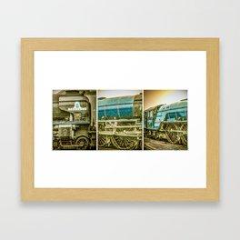 Tornado in blue bywhacky Framed Art Print