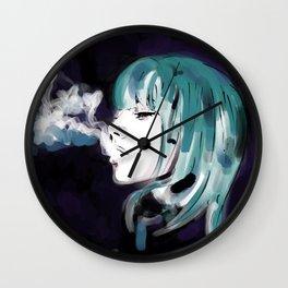 Smoking Colors. Wall Clock