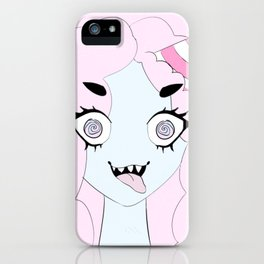 Cotton Candy Monster iPhone Case