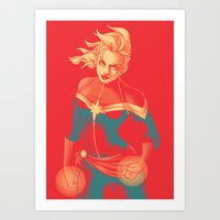 captain Art Prints featuring Captain by SandraG.N.