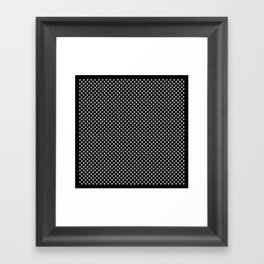 Tiny Paw Prints White on Black Pattern Framed Art Print