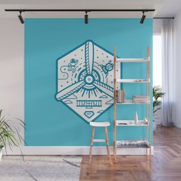 Birthplace of Aviation - Blue Wall Mural