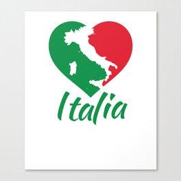 Italia Heart - I Love Italy Canvas Print