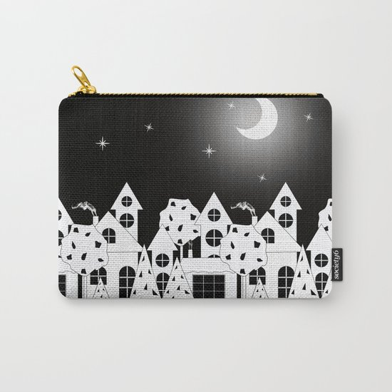 Fabulous houses, trees against the night sky. Carry-All Pouch