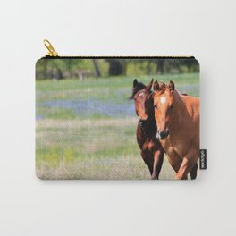 Horses & Bluebonnets II Carry-All Pouch