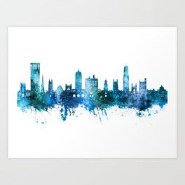 New Haven Connecticut Skyline Art Print