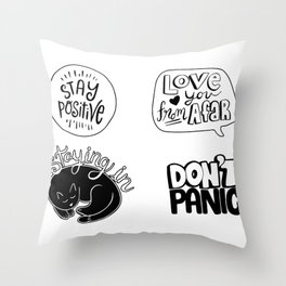 Quarantine Vector Pandemic Illustration. Throw Pillow