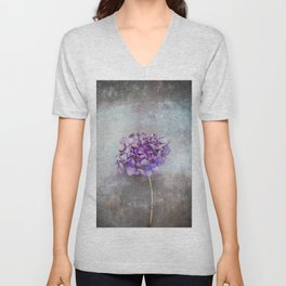 Beautiful Lilac Hydrangea Unisex V-Neck