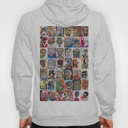 Basquiat Faces Montage Hoody