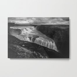 Gulfoss Waterfall in Iceland Metal Print