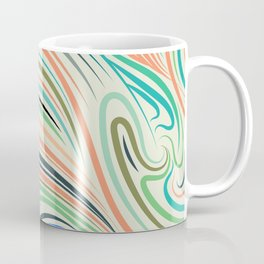 Multicolor abstract wavy lines pattern Coffee Mug