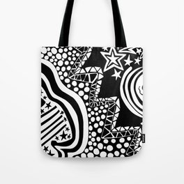 Soul Of The Dream Desert - Star Gazer (Black and White Edition) Tote Bag