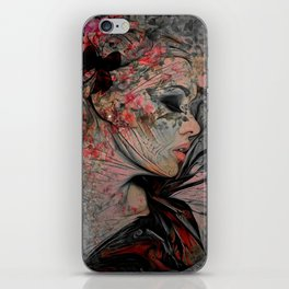 WITH THE GRACE OF A WOMAN iPhone Skin